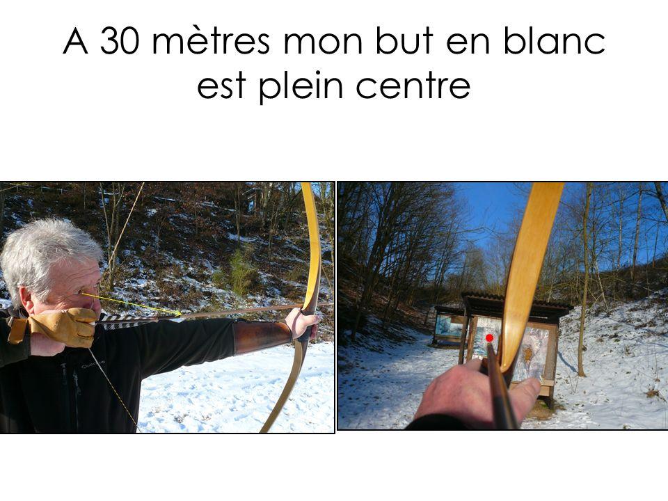 A 25 mètres mon but en blanc est bas de cible JC F