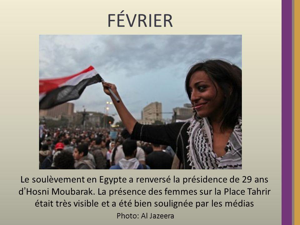 FÉVRIER: Les démonstrations appelant à un changement politique en Lybie sont réprimées dans la violence.