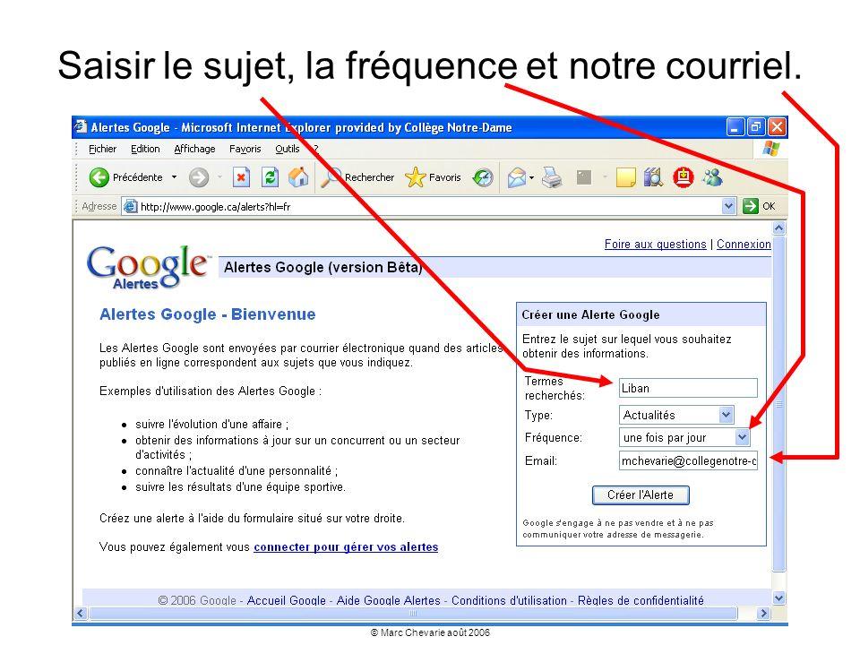 © Marc Chevarie août 2006 Créer des mots entrecroisés