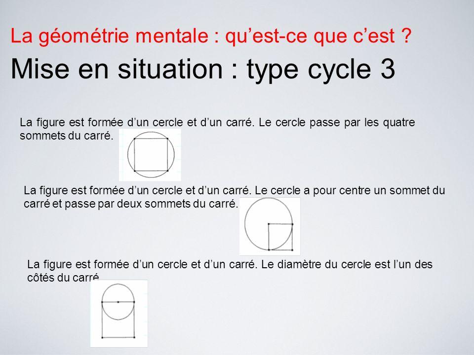 La géométrie mentale : quest-ce que cest ? Protocole de passation en cycle 3