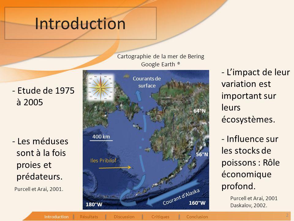 Introduction Observations : En 1999, importante augmentation de la biomasse de méduses.