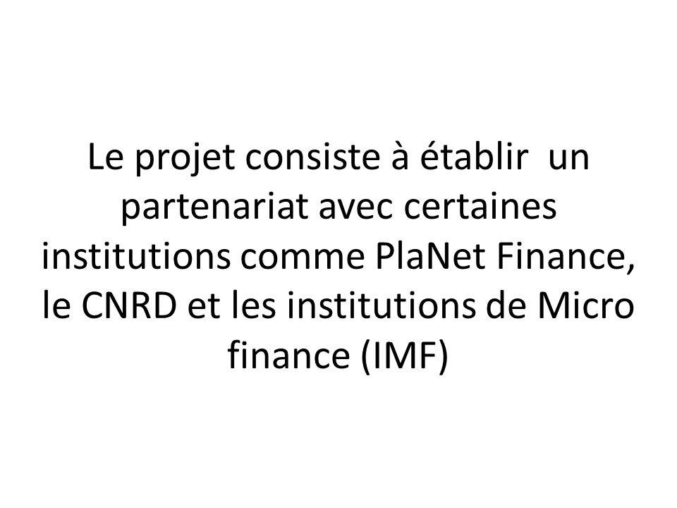 Dans ce contexte les IMF ne sont pas favorables à délivrer des crédits à des populations vulnérables doù la mise en place dune stratégie spécifique pour cette population
