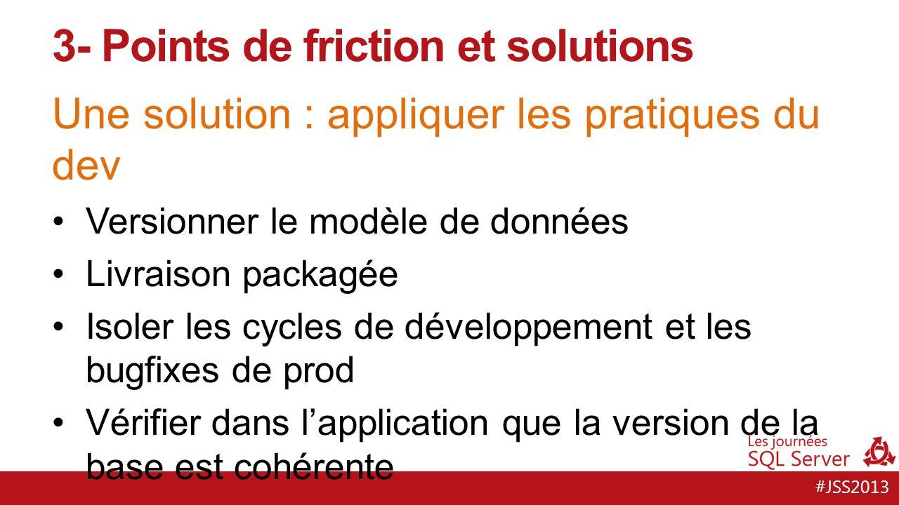 #JSS2013 Une solution : lautomatisation … des tests … de jeux de données … des déploiements … de la création denvironnements ET POUR CA, IL FAUT DES METRIQUES.