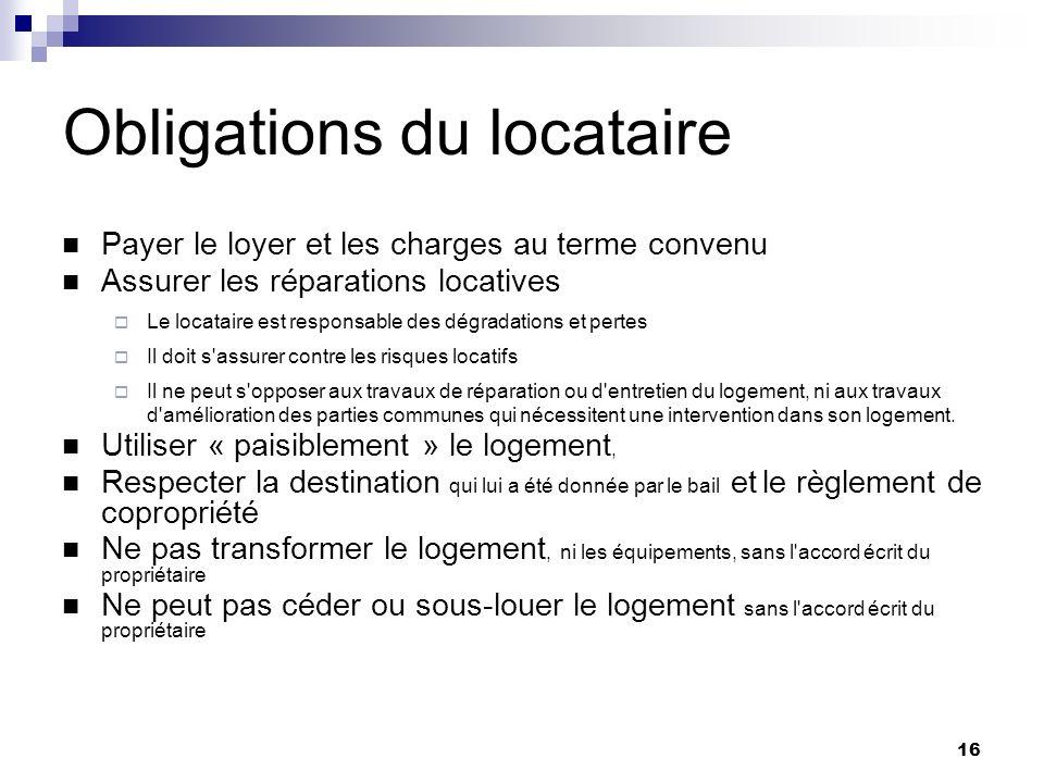 17 Loyer Le loyer initial est fixé librement entre le propriétaire et le locataire.
