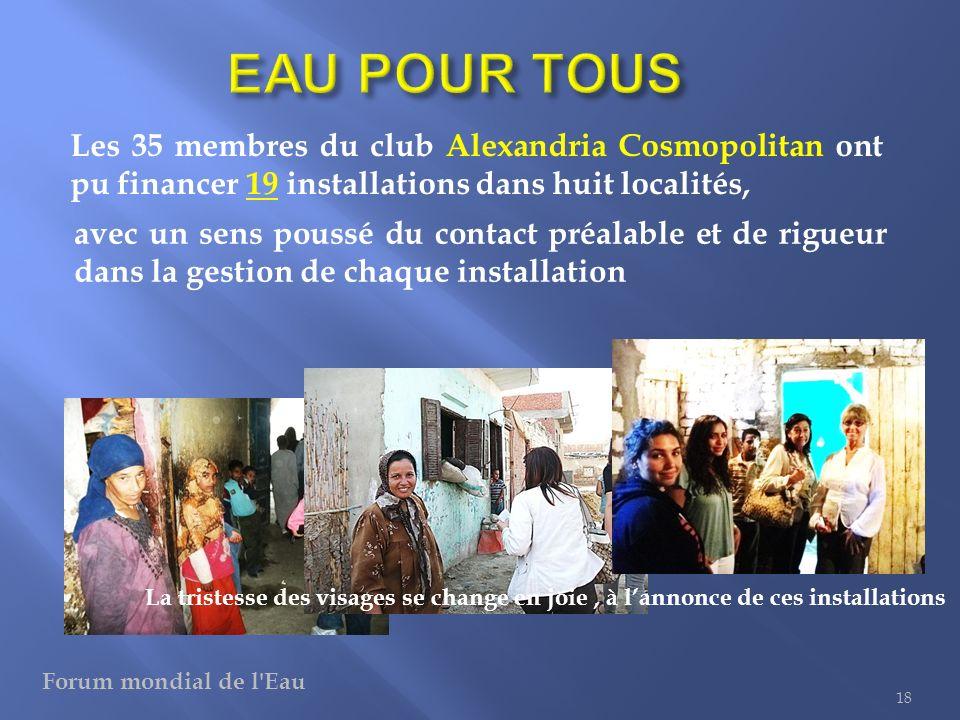 Pour chaque installation, une dizaine de Rotariens sont impliqués dans le suivi jusquà lachèvement 19 Des jeunes du ROTARACT sen réjouissent avec eux Forum mondial de l Eau