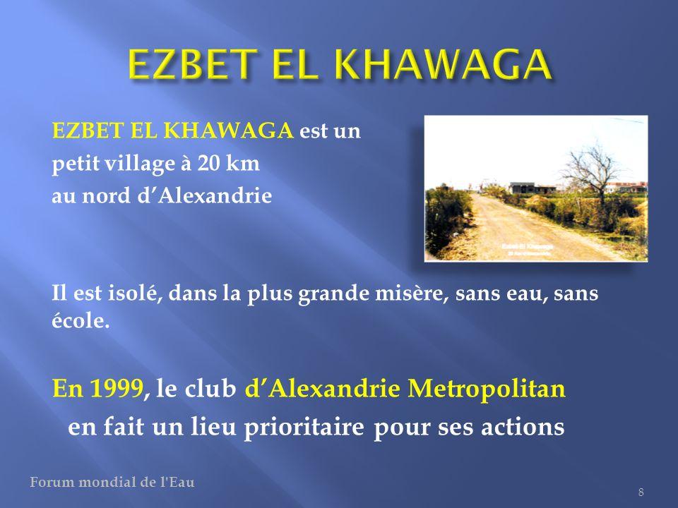 Dans ce village, il ny a que de leau stagnante Plusieurs kilomètres sont nécessaires pour aller chercher leau potable .