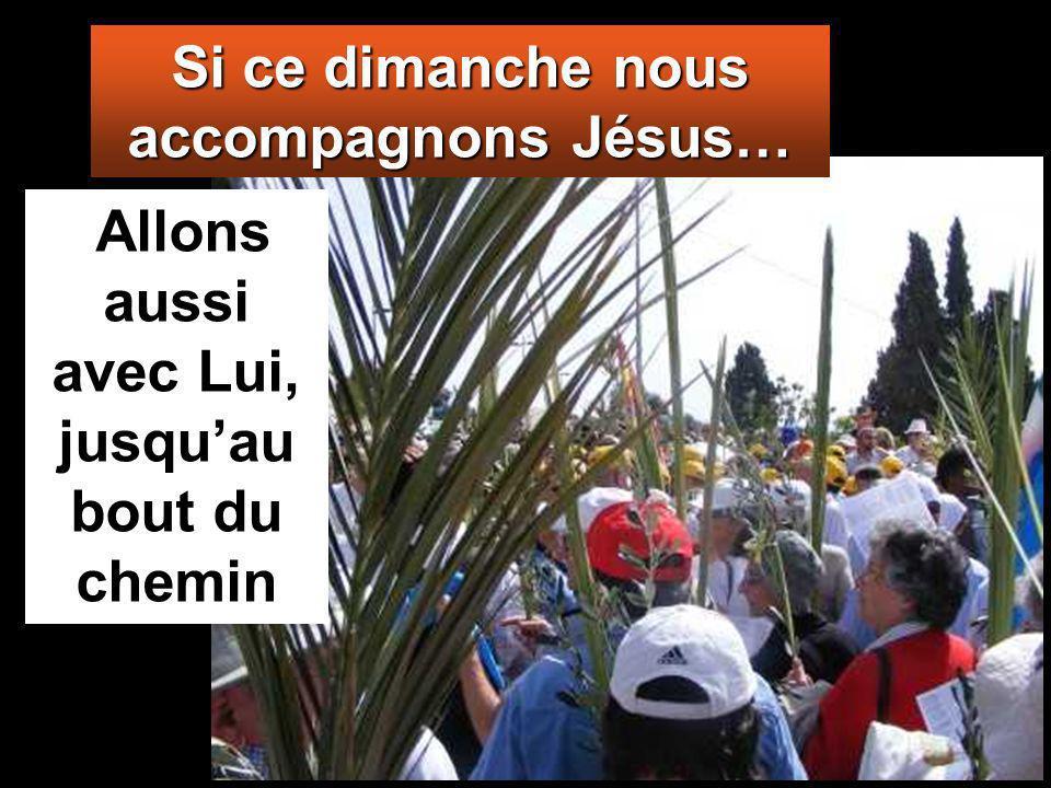 Allons aussi avec Lui, jusquau bout du chemin Si ce dimanche nous accompagnons Jésus…