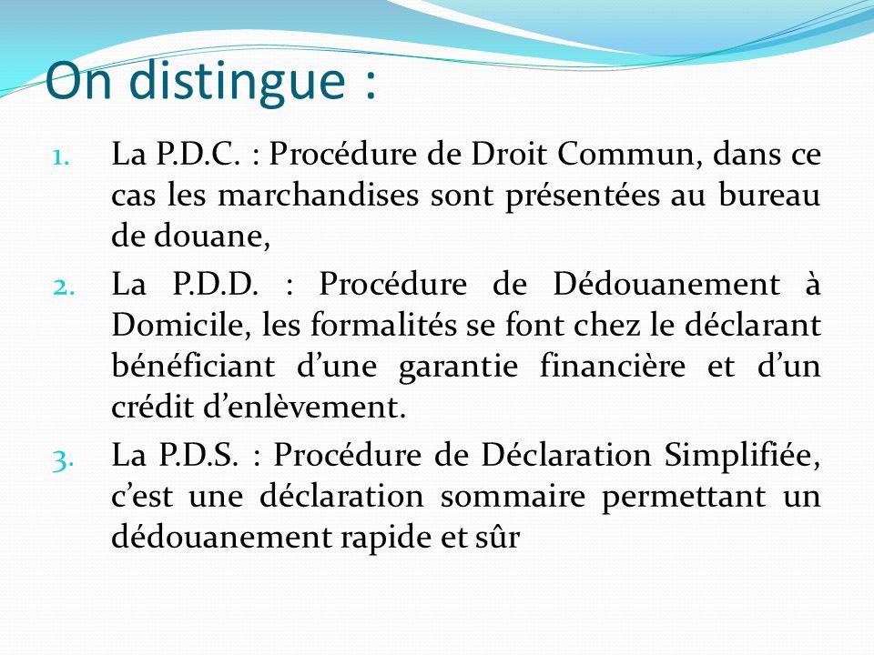 Section I :La P.D.C.