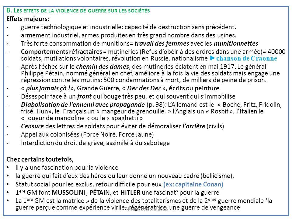 Munitionettes (femmes travaillant dans les usines de munitions pendant la guerre), selon Tardi Production de guerre en France, un aspect de la guerre totale, la diabolisation de lennemi côté anglais, et allemand (racisme contre les soldats sénégalais combattants pour la France) Ténèze, octobre 2013