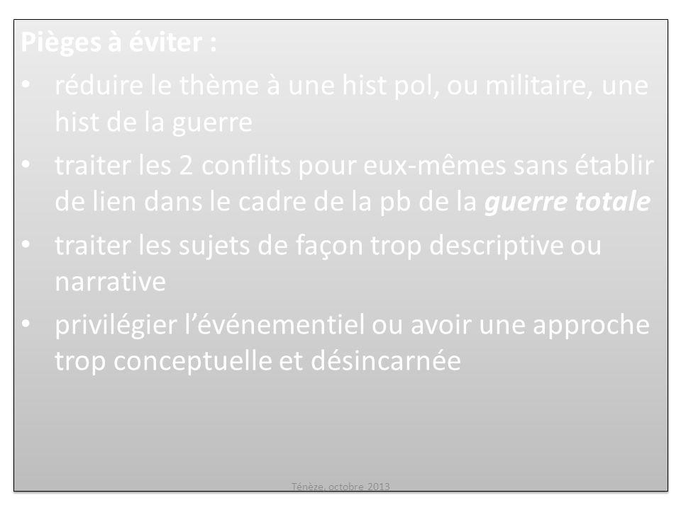 CHAPITRE I: LA WWI ET LES ESPOIRS DE PAIX L EXPÉRIENCE COMBATTANTE DANS UNE GUERRE TOTALE Ténèze, octobre 2013