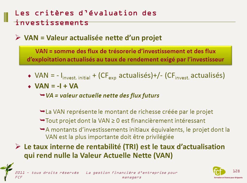 Le ROI nest quun des critères de validation et dévaluation des investissements La pertinence dépend de la légitimité des hypothèses .