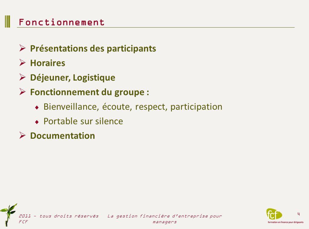 Introduction : contexte juridique et financier La finance dans lentreprise Fondamentaux juridiques société 2011 - tous droits réservés FCF 5 La gestion financière d entreprise pour managers