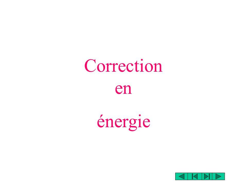 Lénergie: On mesure lamplitude du signal E pour tous les photomultiplicateurs.
