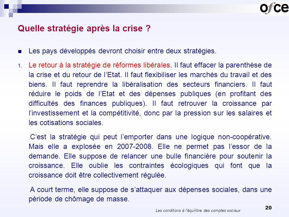 21 Quelle stratégie après la crise .2. Une gestion sociale et écologique de lactivité.