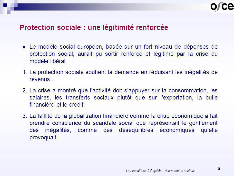6 Protection sociale : une légitimité renforcée 1.Les hauts revenus qui récompensent des activités socialement néfastes, comme la spéculation financière, deviennent inacceptables.