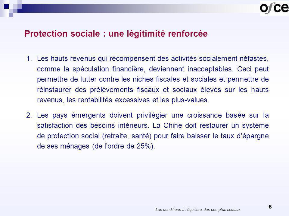 7 Les stabilisateurs automatiques… En période de crise, la protection sociale contribue à la stabilisation de léconomie.
