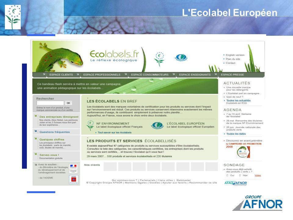 Action régionale du groupe AFNOR Portail Groupe AFNOR www.afnor.org Accès aux normes www.boutique-normes.afnor.org Certification / évaluation www.afaq.org www.marque-nf.com Accueillir Orienter Échanger Anticiper Participer Mobiliser Construire Autres adresses utiles www.ademe.fr www.ec.europa.eu/ecolabel www.ecolabel.frwww.ecolabel.fr (à partir de mai 08) Délégation régionale Groupe AFNOR AQUITAINE Tél : 05 57 29 14 33 delegation.limoges@afaq.afnor.org Délégation régionale Groupe AFNOR AQUITAINE Tél : 05 57 29 14 33 delegation.limoges@afaq.afnor.org