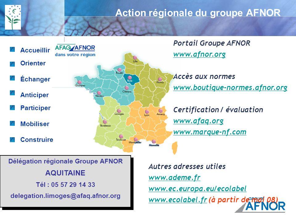 MERCI DE VOTRE ATTENTION Contact GROUPE AFNOR Muriel LUZU : muriel.luzu@afaq.afnor.orgmuriel.luzu@afaq.afnor.org 05 57 29 14 22 Ecolabel Européen Hébergement touristique