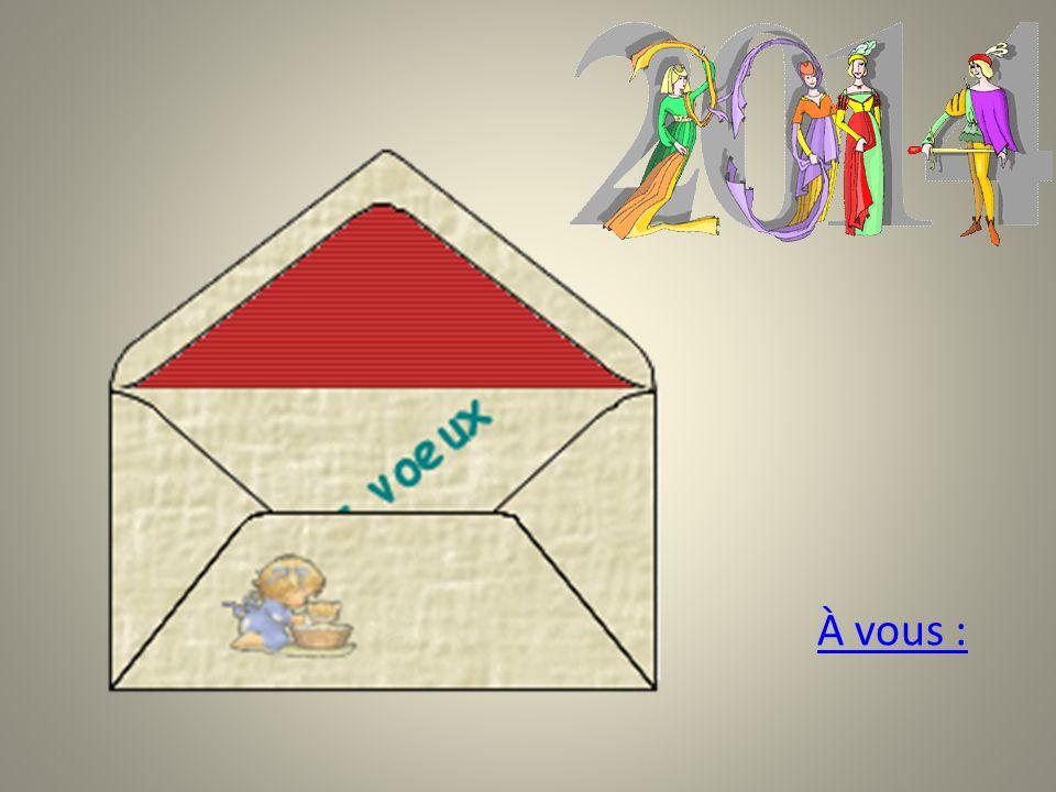 Écrivez votre carte de vœux