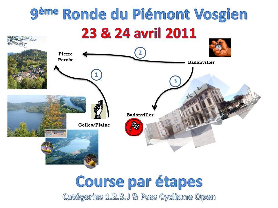 9 ème Ronde du Piémont Vosgien Un peu dhistoire Crée en 2003 la Ronde du Piémont Vosgien est en fait lassociation de 2 courses du calendrier lorrain, qui coexistaient le week-end de Pâques, lune le samedi, le GP des commerçants & artisans de la ville de Raon lEtape, lautre le dimanche, le GP des faïenciers de Badonviller.