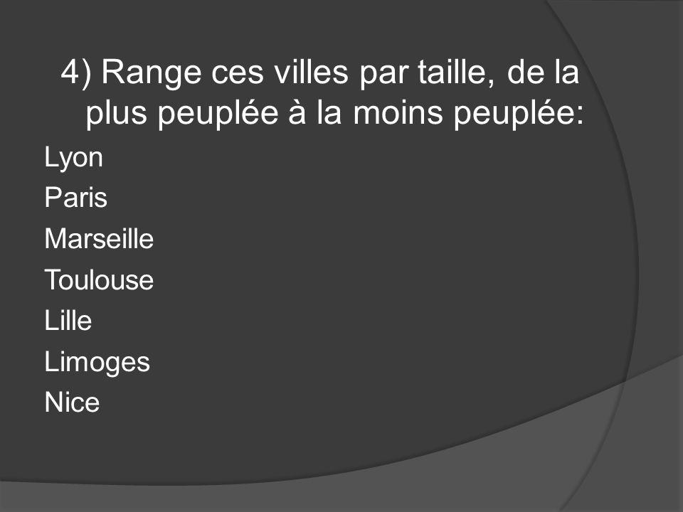 5) Quelle est la devise de la France ? (en français 6p ou en norvégien 3p)