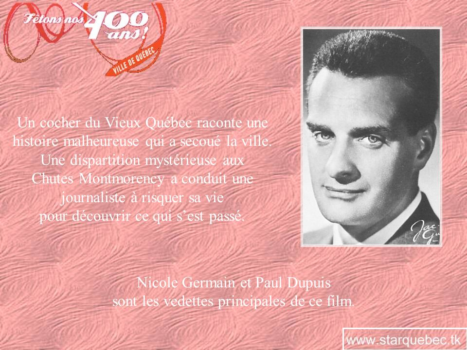 LHOMME AUX OISEAUX En 1952, un conte de lauteur Roger Lemelin est mis en images par les cinéastes Bernard Devlin et Jean Palardy pour le compte de lONF.
