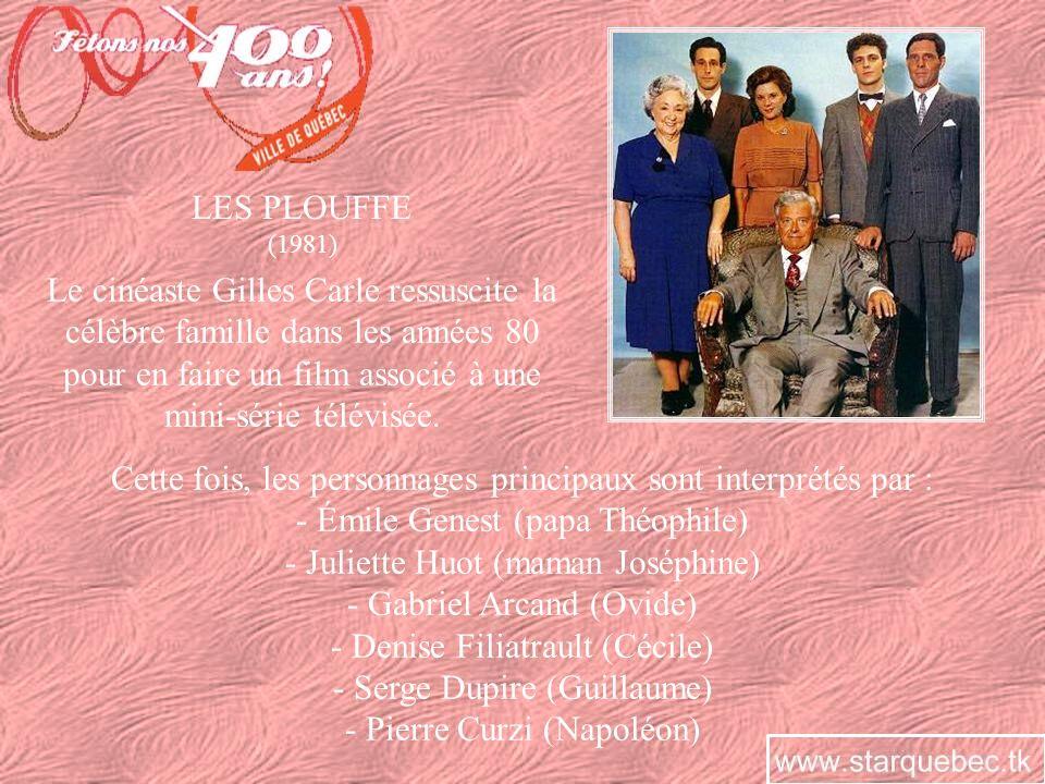 LE CRIME DOVIDE PLOUFFE (1984) Sinspirant de lattentat qui a conduit la femme Pitre à la pendaison dans les années 50, Roger Lemelin crée une nouvelle histoire mettant en vedette ses personnages.