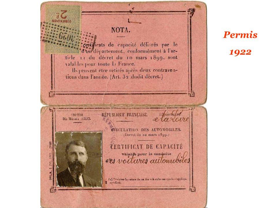 Permis 1922
