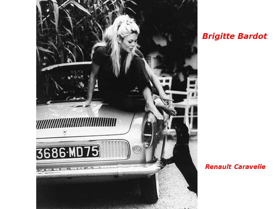 Brigitte Bardot Renault Caravelle