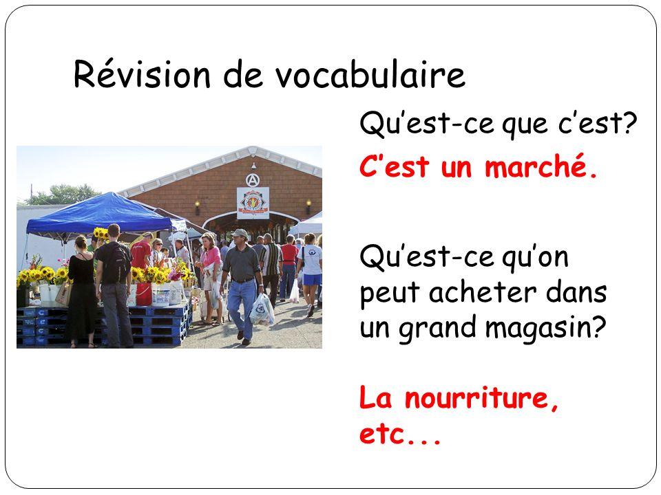 Révision de vocabulaire Quest-ce que cest? Cest un dollar.