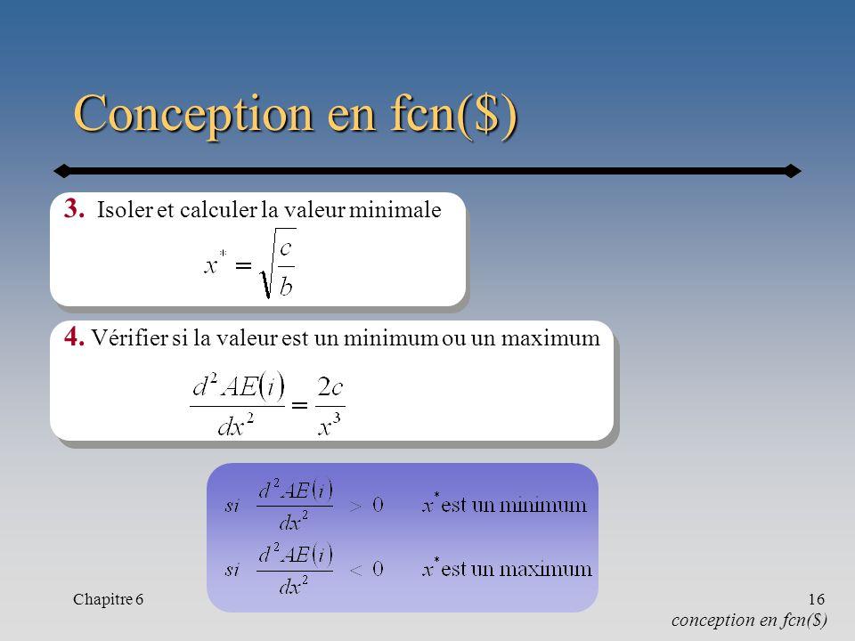 Chapitre 617 Exemple 6.8 : Conception en fcn($) Ex.