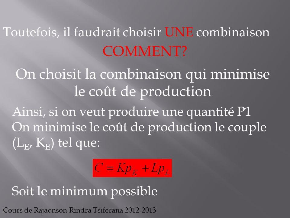 Cours de Rajaonson Rindra Tsiferana 2012-2013 P1 A B C D E