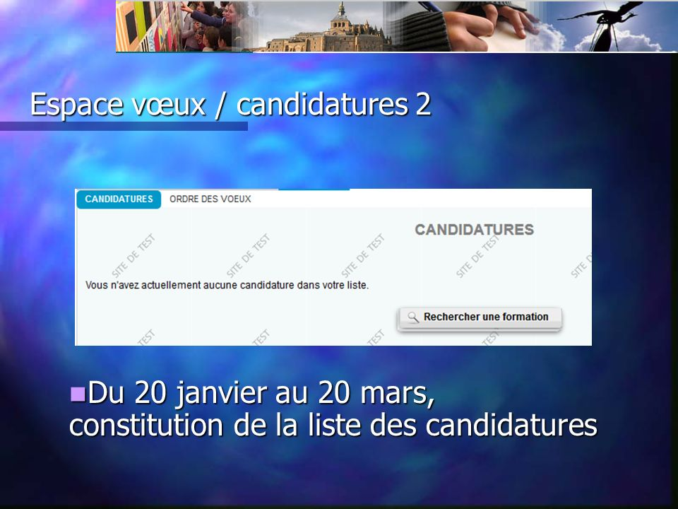 Espace vœux/ candidatures 3