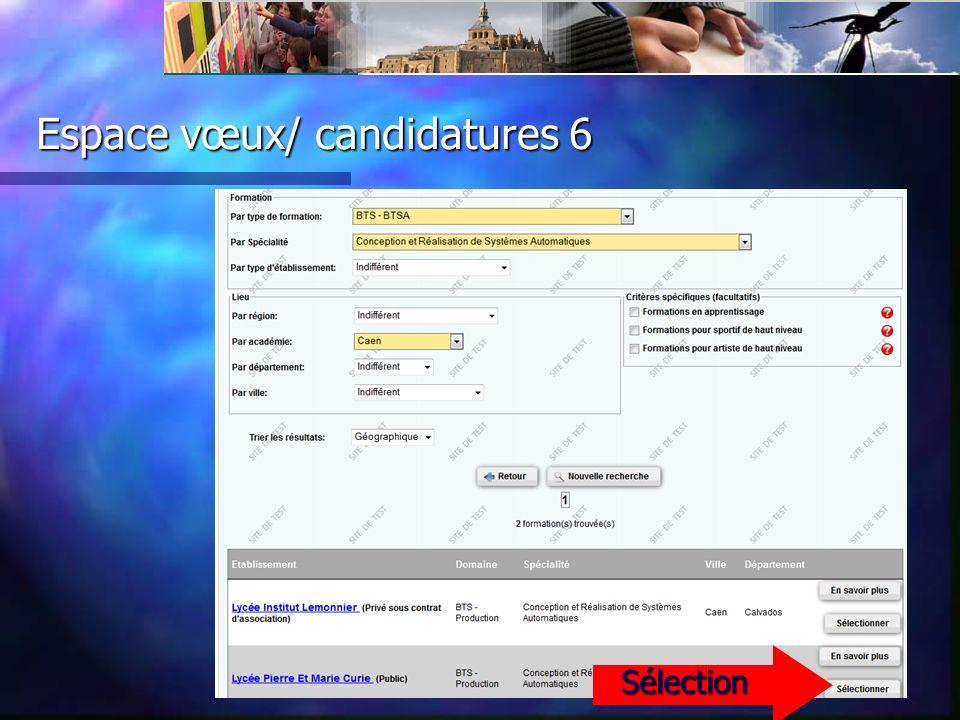 Espace vœux/ candidatures 7