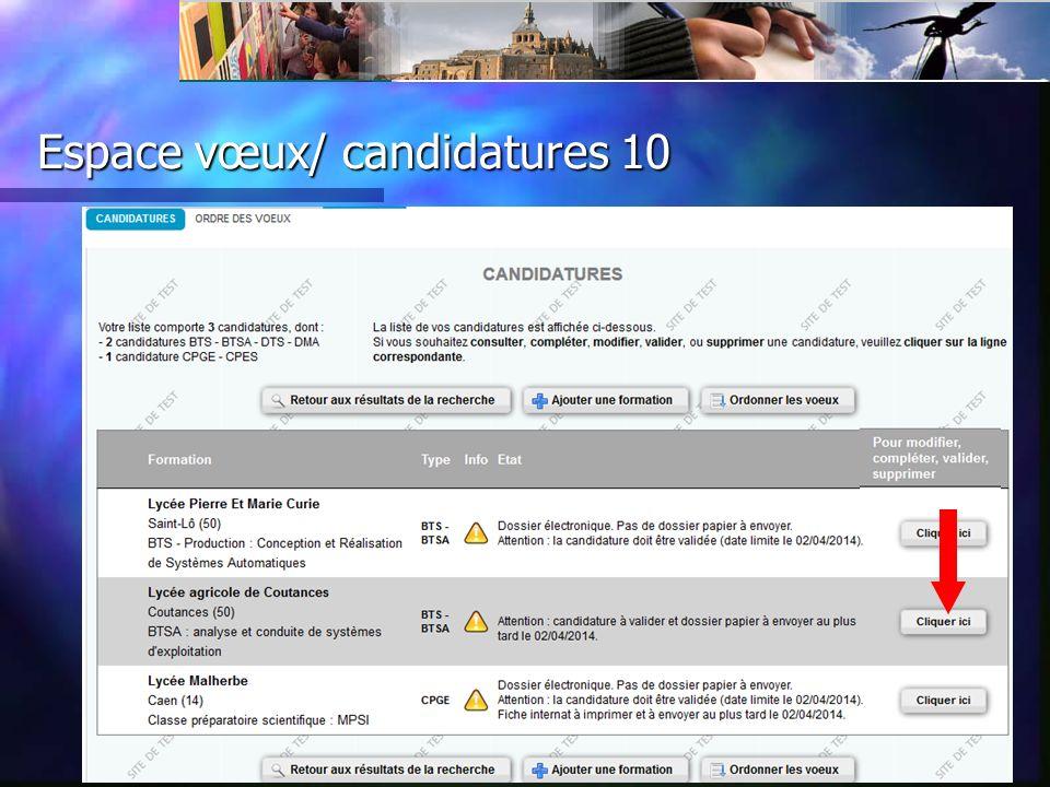 Espace vœux/ candidatures 11