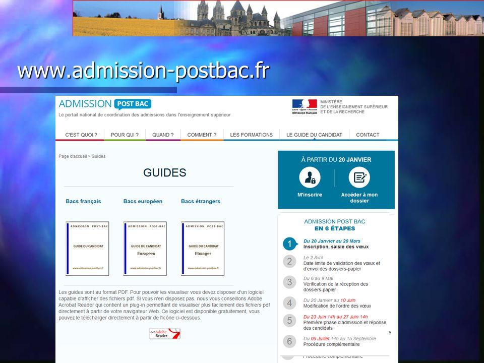 www.admission-postbac.fr Un site pour saisir des voeux Un site pour saisir des voeux