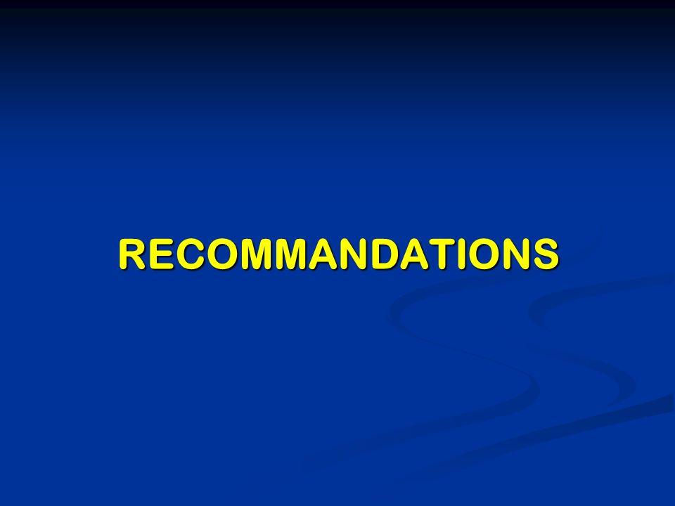 Limplication complète de tous les chefs de service et des décideurs Limplication complète de tous les chefs de service et des décideurs Léquipement des maternités en matériel et en personnel en quantité et en qualité Léquipement des maternités en matériel et en personnel en quantité et en qualité La multiplication des unités obstétrico- chirurgicales La multiplication des unités obstétrico- chirurgicales