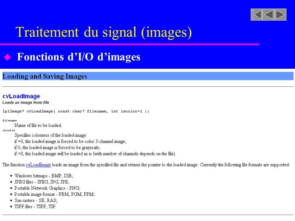 Traitement du signal (images) u Fonctions dI/O dimages