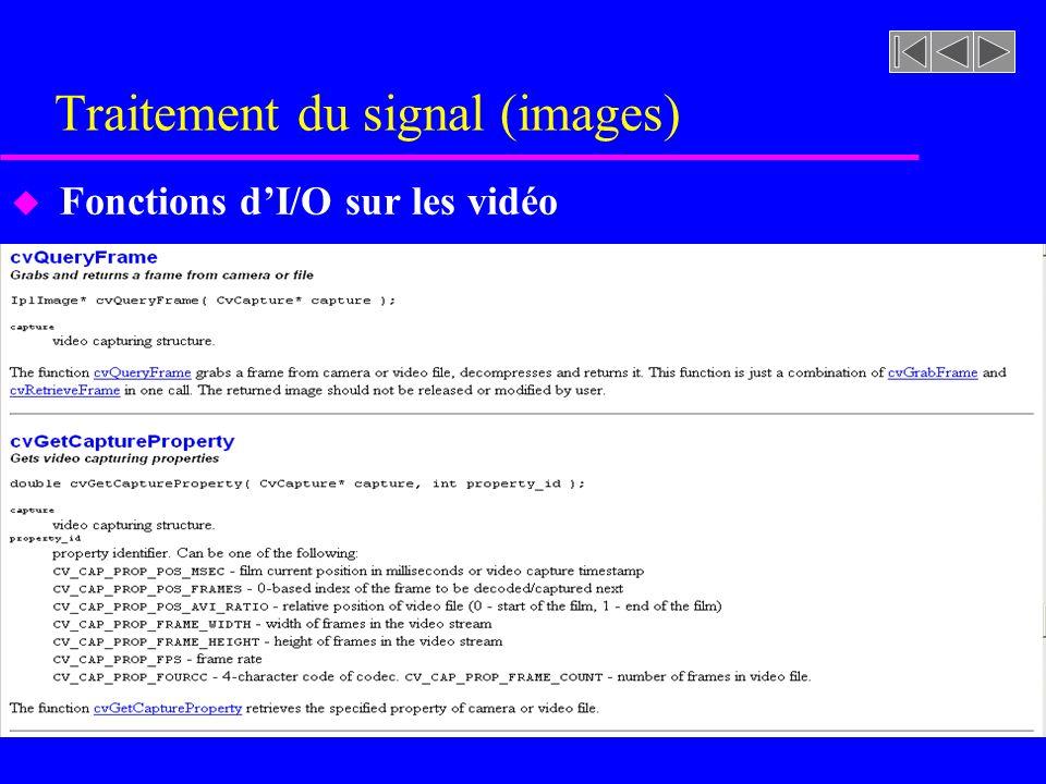 Traitement du signal (images) u Fonctions de filtrage (lissage)