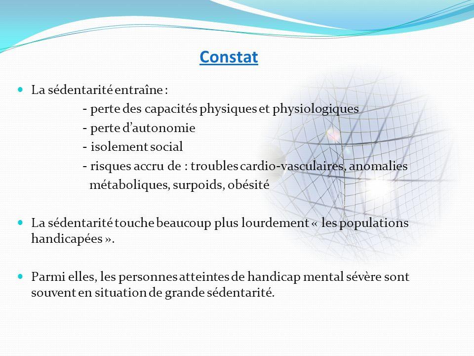 Réactions LOrganisation Mondiale de la Santé rappelait en 2002 que « le manque dactivité physique peut avoir des conséquences graves sur la santé… Le mode de vie sédentaire est lun des problème de santé publique le plus sérieux de notre époque… » Dans le cadre du Programme National Nutrition Santé (PNNS), un des principaux objectifs est de « promouvoir une alimentation équilibrée et une activité physique régulière ».