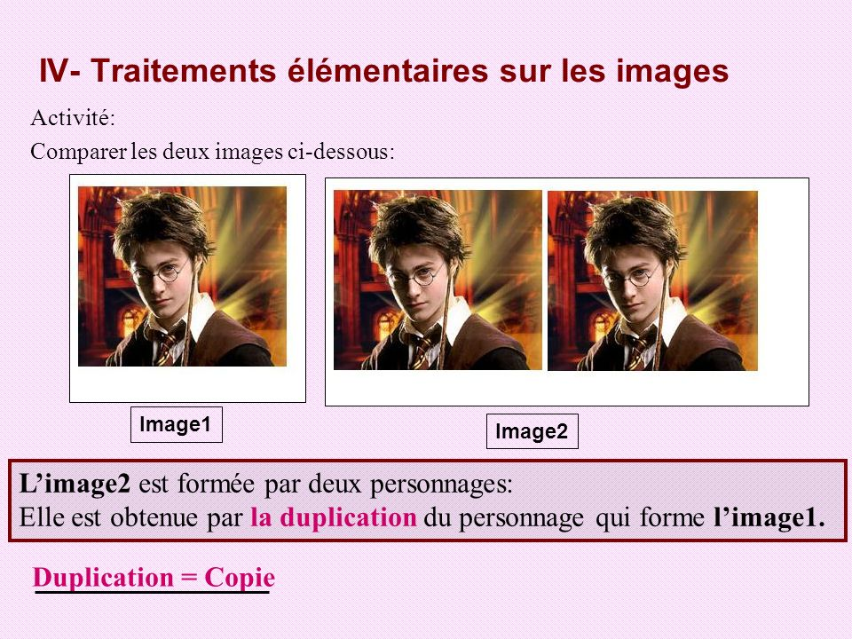 -Pour dupliquer une image : -- Sélectionner limage à dupliquer.