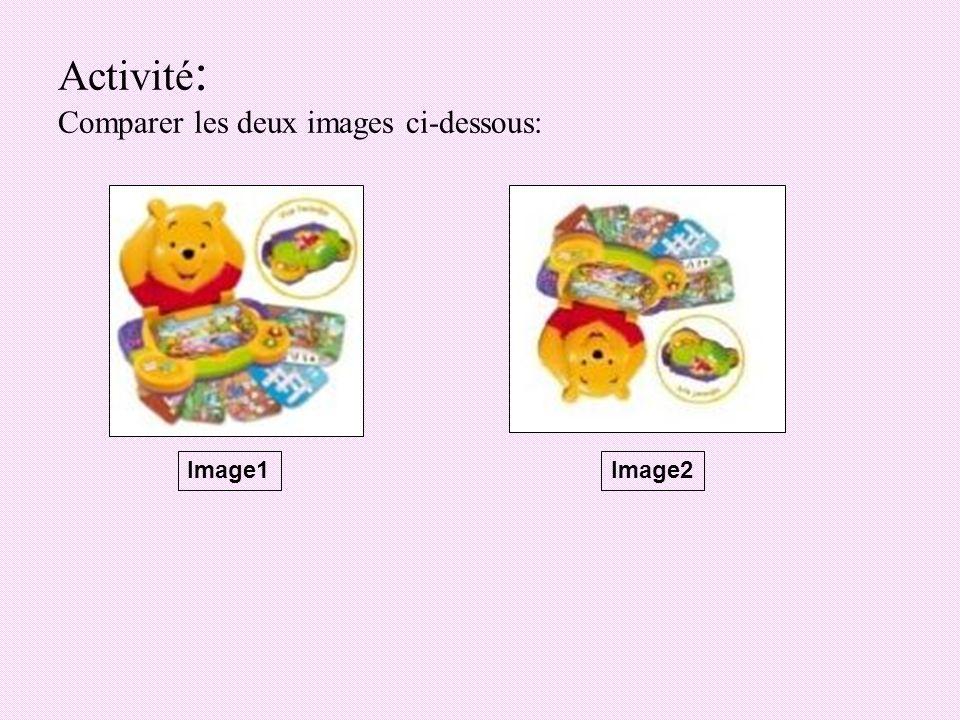 2) La symétrie verticale Pour appliquer leffet symétrie verticale sur une image: -Choisir le menu « Image ».