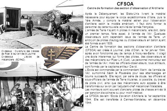 LALOA (Aviation légère dobservation dartillerie) Le commandement de l ALOA est bicéphale, avec le colonel Houpert, pour l armée de l Air, et le colonel Paul Lejay, artilleur et pilote et futur père de lALAT, pour l armée de Terre.
