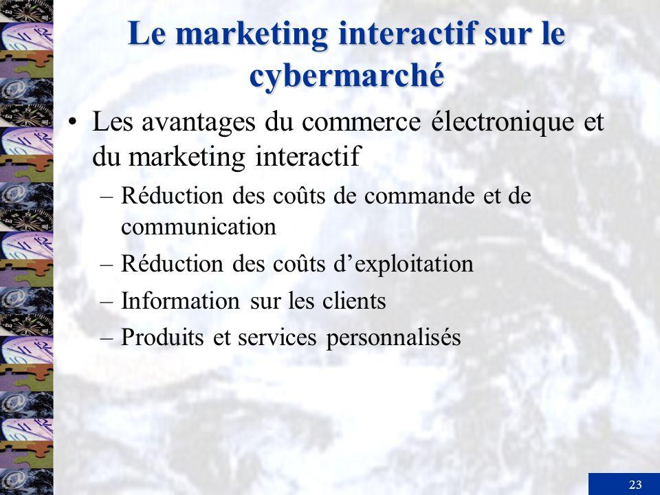 24 Résumé Les consommateurs et les entreprises occupent deux marchés parallèles et complémentaires le marché traditionnel, et le nouveau cybermarché où se pratiquent le marketing interactif et le commerce électronique.