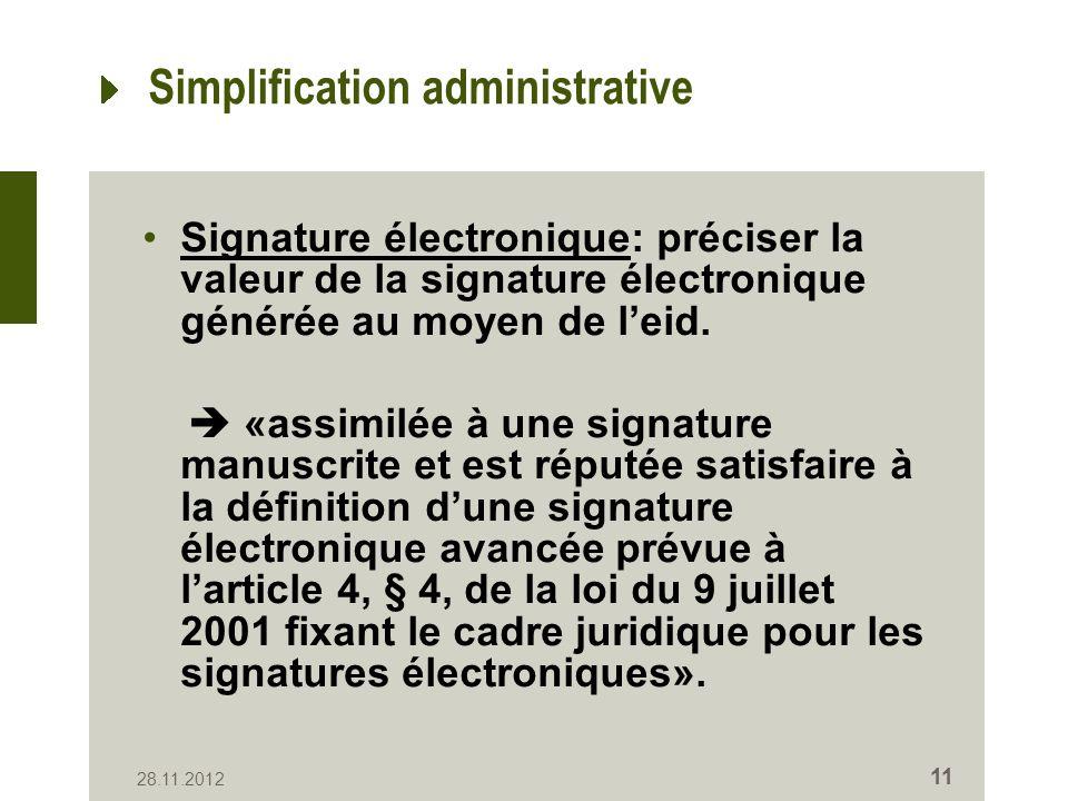 Etat du dossier Le volet relatif au Registre national a été intégré dans lavant-projet de loi Dispositions diverses, chaptitre Simplification administrative.