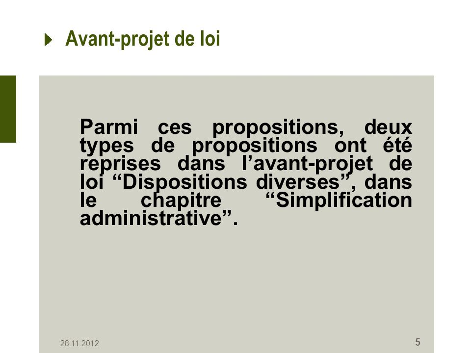Ces propositions poursuivent deux objectifs: Renforcer lexhaustivité du RN: - nouvelles données - nouveaux inscrits Simplification administrative: - e-Birth et e-Death - Signature électronique 28.11.2012 6