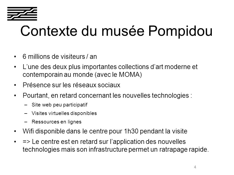 5 Quelles innovations internet pour quels usages au musée Pompidou?