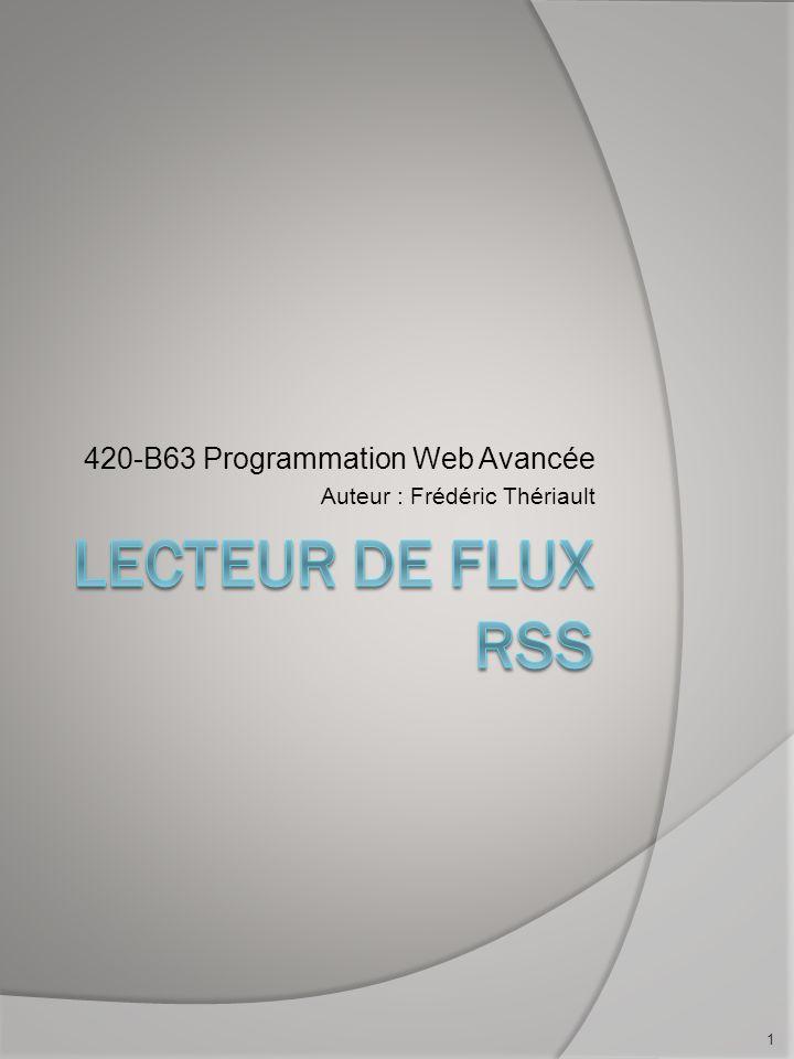 Quest-ce quun RSS De façon très grossière, cest un fichier en format XML mis à jour régulièrement.