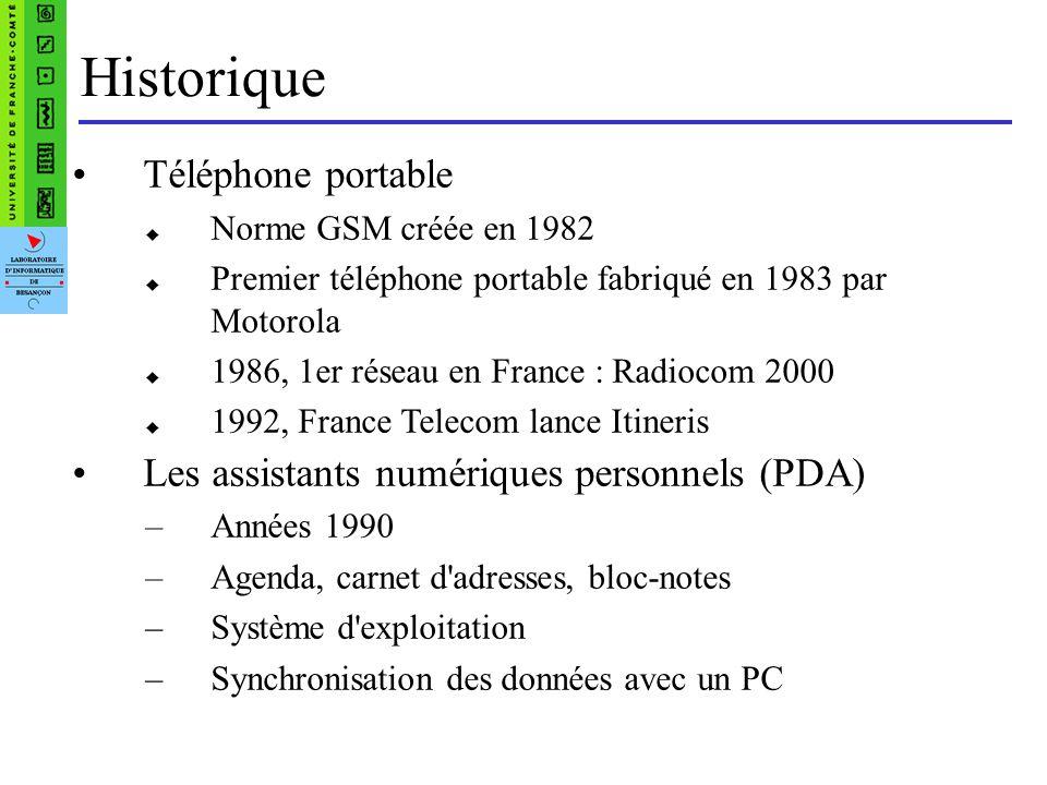 Les smartphones SMARTPHONE = PDA+ téléphone portable Lancé en 2001 Sagem Lessor commence en 2005 avec –la sortie de l IPhone –Le rachat de la startup Android, par Google.