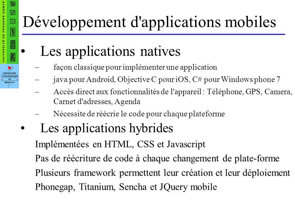 Les outils de développement Xcode pour IOS dispose de deux API de programmation : –Carbon qui permet de programmer avec les langages C et C++.